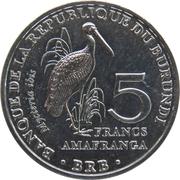 5 Francs (Mycteria ibis) – reverse