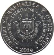 5 Francs (Bucorvus leadbeateri) – obverse