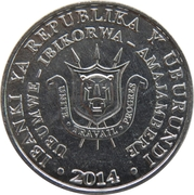 5 Francs (Stephanoaetus coronatus) – obverse