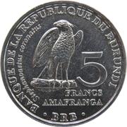 5 Francs (Stephanoaetus coronatus) – reverse