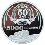 5000 Francs (50th Anniversary of the Central Bank) – reverse