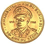 10 Francs  - Mwambutsa IV (50th Anniversary) – obverse