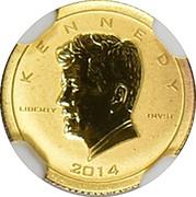 5000 Francs (Kennedy) – reverse