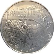 5000 Francs (African Lion) – reverse