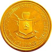 25 Francs - Mwambutsa IV (Independence) – reverse