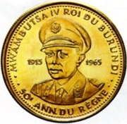 25 Francs - Mwambutsa IV (Golden Jubilee) – obverse