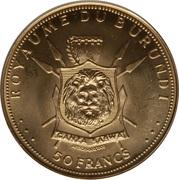 50 Francs - Mwambutsa IV (Golden Jubilee) – reverse