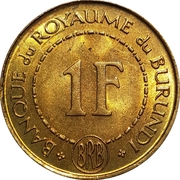 1 Franc - Mwambutsa IV – reverse