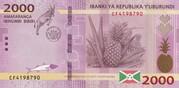 2000 Francs -  obverse