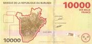 10000 Francs -  reverse