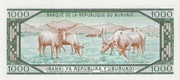 1000 Francs Type 1977 – reverse