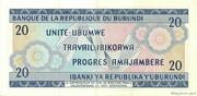 20 Francs Type 1968 – reverse