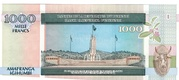 1000 Francs -  reverse