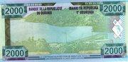 2000 Francs – reverse