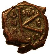 20 Nummi - Justin II and Aelia Sophia (Thessalonica; θκϲ type) – reverse