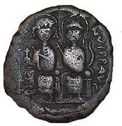 40 Nummi - Justin II and Aelia Sophia (Nicomedia) – obverse
