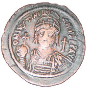 40 Nummi - Justinian I (Cyzicus; bust facing, dated reverse) – obverse