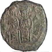 20 Nummi - Justin II and Aelia Sophia (Thessalonica; +M type) – obverse