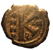 20 Nummi - Justinian I (Antioch; broken P type) – reverse