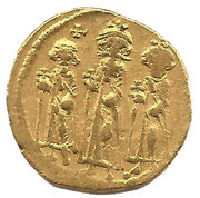 Solidus - Heraclius, Heraclius Constantine and Heraclonas (VICTORIA AVGU; Constantinopolis) -  obverse