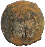 20 Nummi - Justin II and Aelia Sophia (Antioch; broken P type) – obverse