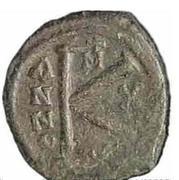 20 Nummi - Justin II and Aelia Sophia (Thessalonica; +M type) – reverse