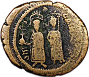 40 Nummi - Phocas and Leontia (Antioch) – obverse