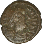 12 Nummi - Justinian I (Alexandria) – obverse