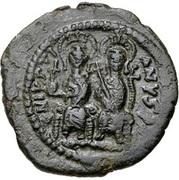 20 Nummi - Justin II and Aelia Sophia (Cyzicus) – obverse