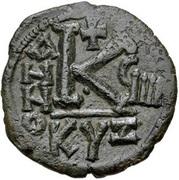 20 Nummi - Justin II and Aelia Sophia (Cyzicus) – reverse