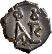 5 Nummi - Justin II (Constantinopolis) – obverse