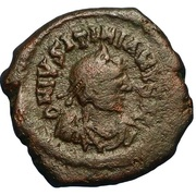 16 Nummi - Justinian I (Thessalonica; Type • ☩ •) – obverse