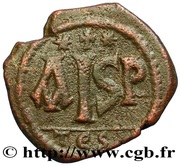 16 Nummi - Justinian I (Thessalonica; Type ✶ ☩ ✶) – reverse
