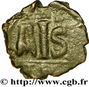16 Nummi - Justinian I (Thessalonica; Type A Δ K) – reverse