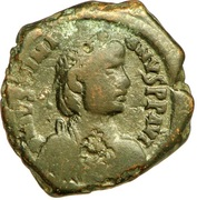 16 Nummi - Justinian I (Thessalonica; Type 'no mark') – obverse