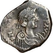 Miliarense - Anastasius I Dicorus (CLO RORVST P P AR; Thessalonica) – obverse