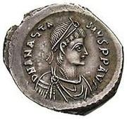 Siliqua - Anastasius I Dicorus (VOT MVLT MTI; Constantinopolis) – obverse
