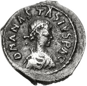 ½ Siliqua - Anastasius I Dicorus (Uncertain Mint) – obverse