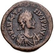 10 Nummi - Anastasius I Dicorus (CONCORDI; Constantinopolis; no Officina Letter, Small Module) – obverse