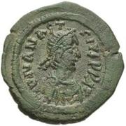 10 Nummi - Anastasius I Dicorus (CONCORD; Constantinopolis; Large Module) – obverse