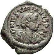 16 Nummi - Justinian I (Thessalonica; Type ☩, no mint-mark) – obverse