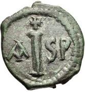 16 Nummi - Justinian I (Thessalonica; Type ☩, no mint-mark) – reverse