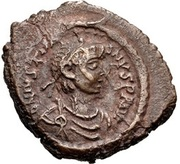 16 Nummi - Justinian I (Thessalonica; Type • A •) – obverse