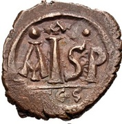 16 Nummi - Justinian I (Thessalonica; Type • A •) – reverse