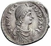Miliarense  - Anastasius I Dicorus (GLORIA ROMANORVM; Constantinopolis; Spear and Shield) – obverse