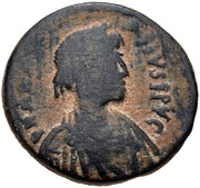 20 Nummi - Anastasius I Dicorus (Nicomedia; Small Module) – obverse