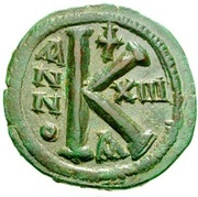 20 Nummi - Justinian I (Constantinopolis; Bust Facing) – reverse