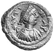 5 Nummi - Justinian I (Constantinopolis; Type ☧) – obverse
