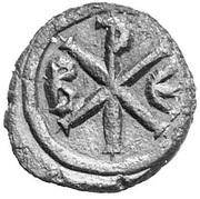 5 Nummi - Justinian I (Constantinopolis; Type ☧) – reverse