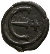 5 Nummi - Justinian I (Constantinopolis; Type ♰, Small Module) – reverse